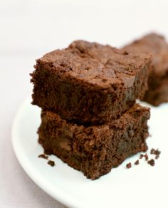 amazingly moist low-fat brownies #recipe