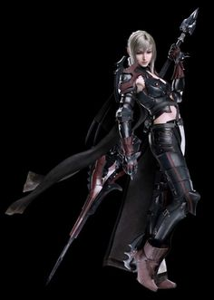 "XV Aranea Highwind is an antagonist and a guest party member in Final Fantasy XV. She is captain of the Niflheim Empire's Third Army Corps 86th Airborne Unit, and her skill in aerial combat has earned her the nickname, ""The Dragoon."""