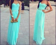Bridesmaids Dress - Floor length with gold belt