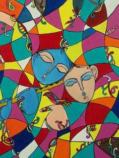 Modern krishna painting