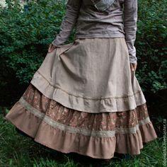 """Купить Вельветовая юбка """"Розы на пустыне"""" - юбка, бохо, стиль бохо, бохостиль, Оригинальная одежда"""