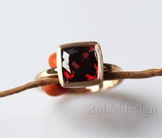 8mm Cushion Cut VS Garnet Natural Garnet Ring In 14k Rose Gold Ring Red Gemstone Ring Engagement Ring   Wedding Ring Christmas Gift by RobMdesign on Etsy https://www.etsy.com/listing/209665820/8mm-cushion-cut-vs-garnet-natural-garnet