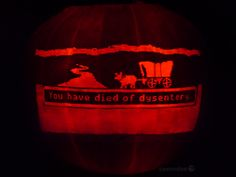 Oregon Trail pumpkin