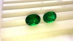7.58 ct 2 Pcs Fine Natural Emerald Oval Zambia UnTreated Loose GemStone