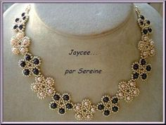 Flower beads pattern necklace. Craft ideas from LC.Pandahall.com