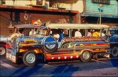 colorful jeepnies, a popular mode of transportation and an original Filipino invention ... Manila, the Philippines
