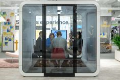 Framery Meeting pod is designed for meetings up to 6 people and is wheelchair accessible. The award winning framery booth is now available in Australia, call for a showroom inspection 0414 534 Perfect for the Waterloo Road, Office Pods, Lounge Design, Open Office, Office Environment, Isolation, Meeting Place, Signage Design, Sound Proofing