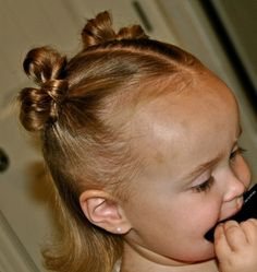 Cute bow tie pigtails for kids
