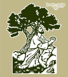 Estación 1 del Viacrucis actual:  Jesús reza en el Huerto de los Olivos