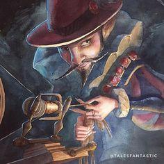 Welcome ⋆ Tales Fantastic Fantasy Drawings, Fantasy Artwork, Children's Book Illustration, Watercolor Illustration, Book Illustrations, Dungeons And Dragons Game, Rumpelstiltskin, Illustrators On Instagram, Painting Process