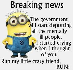 Minion Breaking News Funny Quote funny quotes quote crazy funny quote funny quotes funny sayings humor minion minions minion quotes quotes that make you laugh quotes that make you smile Minion Humour, Funny Minion Memes, Minions Quotes, Funny Jokes, Minion Sayings, Funny Sarcasm, Fun Sayings, Hilarious Quotes, Funny Cartoons