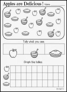 Math Worksheets, Grade-2 Worksheets, Tally Chart