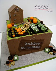 Cake Decorating: How About Birthday Cakes For Adults 90th Birthday Cakes, Special Birthday Cakes, Big Cakes, Just Cakes, Fondant Cakes, Cupcake Cakes, Cupcakes, Allotment Cake, Vegetable Garden Cake