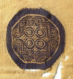 201: Coptic textile with two geometric orbiculi : Lot 201
