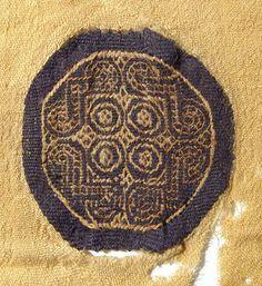201: Coptic textile with two geometric orbiculi : Lot 201