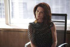 Michelle Fairley in Suits Suits Tv Series, Michelle Fairley, Desolation Row, Catelyn Stark, Pretty Face, Picture Photo, Polka Dot Top, Two By Two, High Neck Dress