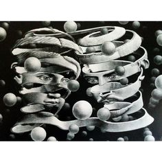 MC Escher is one of the world's most immediately recognisable artists, so why is he still so elusive? Escher Kunst, Mc Escher Art, Gravure Illustration, Wood Engraving, Antique Prints, Op Art, Optical Illusions, Les Oeuvres, Tarot