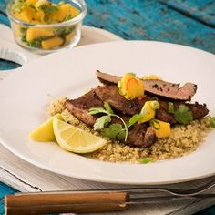Do watch our one minute video! One pork fillet generously feeds people, especially when butterflied and flattened. Pan-frying is a quick, easy and delicious preparation method for the fillet. Do serve it with the traditional mango salsa. Mango Salsa, Butterflied Chicken, Pork Fillet, Piggly Wiggly, South African Recipes, Couscous, Pork Recipes, Fries, Beef