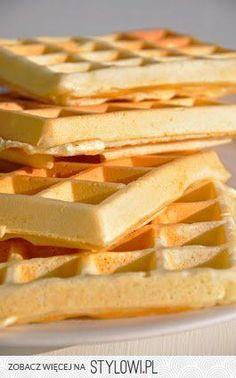 Słodko i Pieprznie: Gofry 300 g mąki pszennej 250ml m…