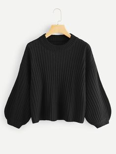 Shop Plus Drop Shoulder Bishop Sleeve Jumper online. SHEIN offers Plus Drop Shoulder Bishop Sleeve Jumper & more to fit your fashionable needs. Dress Outfits, Casual Outfits, Cute Outfits, Fashion Outfits, Peplum Dresses, Dressy Dresses, Linen Dresses, Grunge Look, 90s Grunge