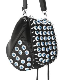 Monster Bag. I love the spikes and eyes and just everything about this. I wanna wear it around and just see how people react to my bag staring back at them.