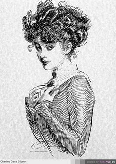 Charles Dana Gibson. He was/is truly a GENIUS!!! LOVe his work!