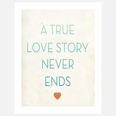True Love Story 11x14 now featured on Fab.com- Fresh Word Market
