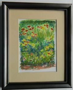*Flower Garden I - watercolor,  7x5. apr 7, 2012.