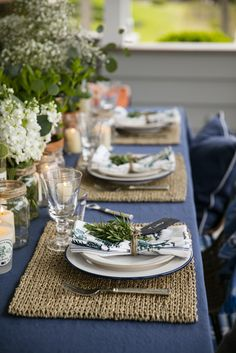 Lexington Company Home Inspiration Spring Collection 2017 New England Blue, Navy and Orange