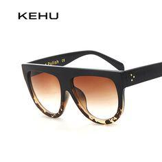 fd3b92ff6f7a1 KEHU Woman Flat Top Mirror Sun Glasses Cat Eye Sunglasses French brand oculos  De Sol
