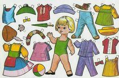 Muñecas de papel para recortar y vestir para niños