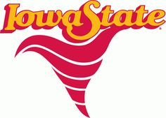 Iowa State Cyclones Primary Logo (1983) - A red cyclone under script