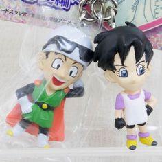 RARE! Dragon Ball Z Son Gohan & Videl Pair Figure Key Chain JAPAN ANIME