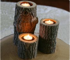 Branch Candle Set >> Cute!