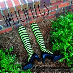 DIY on a Dime: Halloween Witch Legs Tutorial