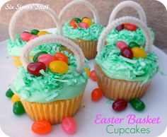 Easter basket cupcakes. My mom made these for us when we were younger