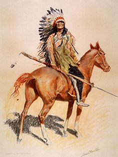 Metal Magnet Native American Indian Sioux Chief Horse Art 1901 Magnet X for sale online American Indian Art, Native American Indians, Vintage Prints, Vintage Art, Framed Canvas Prints, Art Prints, Eskimo, Frederic Remington, West Art