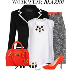 Black and White with Orange Accents