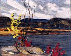 Tom Thomson, Autumn, Algonquin Park on ArtStack Emily Carr, Group Of Seven Artists, Group Of Seven Paintings, Canadian Painters, Canadian Artists, Abstract Landscape, Landscape Paintings, Small Paintings, Abstract Paintings