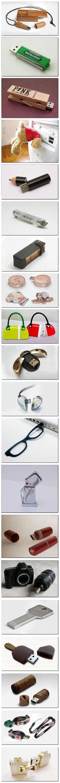 Cute USB Drives, I especially love the heart-shaped and ladybird USBs!