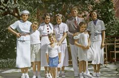 "thekennedysincolor: ""Rose Kennedy with seven of her children; Eunice, Bobby, Ted, Patricia, Jack, Jean, and Rosemary, ca. 1930s """