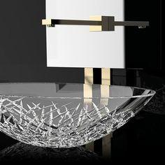 Glass Design Crystal Vessel Sink Ice