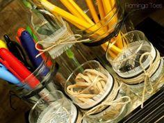 2. #Clear Glass - 10 Fun DIY Desk #Organizers ... → #Lifestyle #Pens