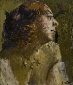 Woman With Ringlets Artwork By Walter Richard Sickert Oil Painting & Art Prints On Canvas For Sale Walter Sickert, Landscape Pencil Drawings, Local Art Galleries, Star Wars Concept Art, Impressionist Artists, Sad Art, Art Uk, Museum Collection, Female Art
