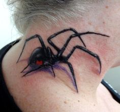 Black Widow spider tattoo - 30 Awesome Spider Tattoo Designs