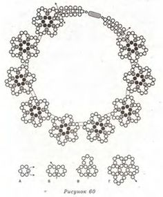 Beaded flower necklace - Schema for easy, basic flower shaped necklace components ~ Seed Bead Tutorials