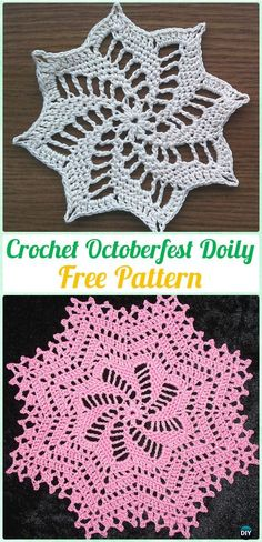 Crochet Octoberfest Doily Free Pattern - #Crochet; #Doily Free Patterns