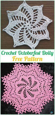 Crochet OctoberfestDoily Free Pattern - #Crochet; #Doily Free Patterns