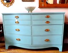chalk paint | ... paint. I painted the dresser in Annie Sloan Chalk Paint in Provence