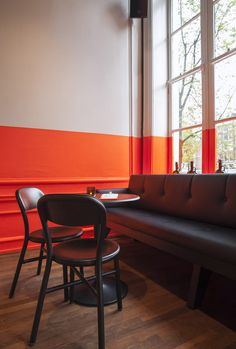 Amsterdam beer bar amps up the visual stimulation with a quintessentially Dutch paint job...